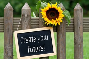 Create your future on chalkboard