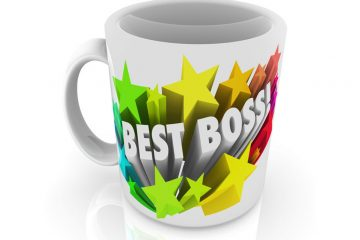 coffee mug with best boss written on it